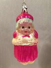 Antique Mrs. Santa Claus (Large Size) Blown Glass Christmas Ornament