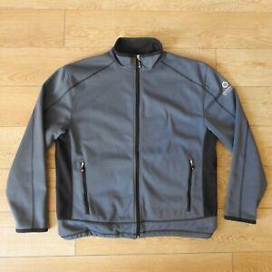 Sunderland of Scotland Grey Soft Shell Bonded Fleece Golf Jacket Size XL