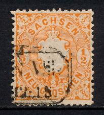 (YYAG 463) Sachsen 1863 USED Mich 15 Scott 16 Saxony Germany