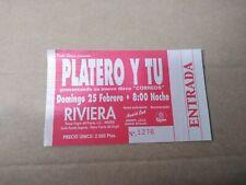 PLATERO Y TU, DOMINGO 25 FEBRERO - ENTRADA TICKET