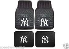 MLB New York Yankees Front & Rear Vinyl Heavy Duty Car Mats New Free Shipping