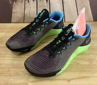 Nike Metcon 5 AMP Training Shoes Black Green CD3395-046 Mens Size 11