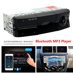 1Din Car Audio Stereo MP3 Player Bluetooth Stereo Radio FM AUX Handsfree Calling
