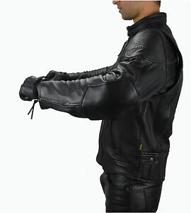 aw1091 Gr.L. Leder Motorradjacke AWANSTAR Lederjacke Motorbike Leather Jacket