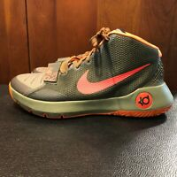 Nike Zoom #749377 Basketball Trey III Size 10 Shoes; Gray & Orange, Adjust. Tab