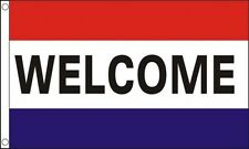 WELCOME FLAG 5' x 3' Shop Fair Sale Open Retail Market Stall Car Boot Garage