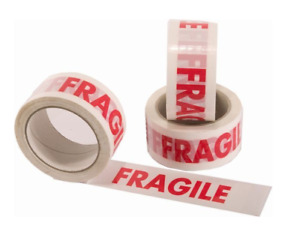 FRAGILE TAPE PACKAGING TAPE PACKING BUSINESS OFFICE MOVING HOUSE GLASS WARNING