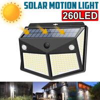 260LED ad Energia Solare Sensore di Movimento Luce Giardino Esterno Sicurezza Da