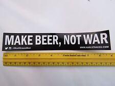 Beer STICKER ~*~ KARL STRAUSS Brewing Co ~ Make Beer, Not War ~*~ CALIFORNIA