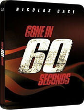 GONE IN 60 SECONDS LIMITED EDITION BLU RAY STEELBOOK (NEW/SEALED)