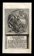 santino incisione1700 STIMMATE DI S.FRANCESCO D'ASSISI