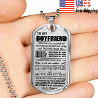 Dog Tag Necklace To My Boyfriend - Personalized  Pendant Gift for Men