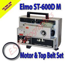 Elmo st-600d M SUPER 8mm CINE PROIETTORE le cinghie di trasmissione set di 2