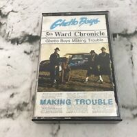 Ghetto Boys 5th Ward Chronicle Making Trouble Texas Rap A Lot 1988 Cassette Tape
