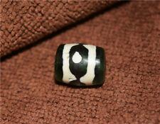 tibetan real three eyed dzi bead pendant old genuine amulet 3 eyes gzi bracelet