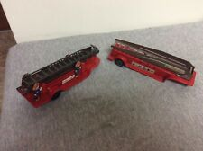 Vintage Fire Department Ladder Trailer Lot Of Two