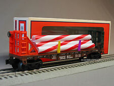 LIONEL GINGERBREAD JUNCTION FLATCAR CANDY CANES train 6-30219 car 6-26471 NEW