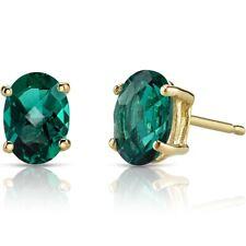 14k Yellow Gold Oval Shape 1.50 Carats Tanzanite Stud Earrings