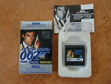 Game Gear James Bond 007 The Duel Box Manual Card Complete