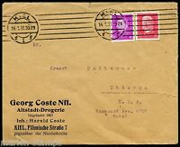 GERMANY  KIEL 1/14/31 COVER TO CHICAGO GREAT FRANKING