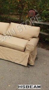 Pottery Barn Basic Sofa Sectional slipcover RIGHT ARM CHAIR OAT EVERYDAY SUEDE