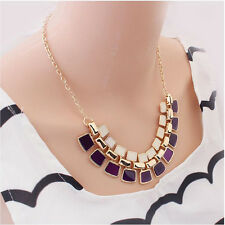 Charm Statement Bib Pendant Chain Chunky Choker Necklace Jewelry Fashion Crystal