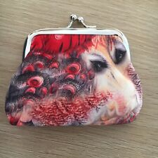 Peacock Red Women's Girls Fashion Vintage Style Coin Purse Bag Wallet Brand New