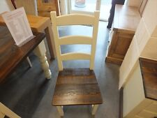 X1 AMISH PAINTED CHAIR RECLAIMED TIMBER SEAT CHOICE OF COLOURS AVAILABLE STRING