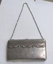 RARE Antique Russian Large Solid Silver Theater Handbag Purse ART NOUVEAU 365 gr