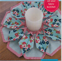 PATTERN - Fold N Stitch Blooms - 3D candle mat PATTERN - Poorhouse Designs