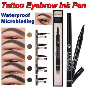 Tattoo Eyebrow Pencil Liner Ink Liquid Brush Pen Makeup Waterproof Microblading