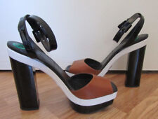 MIchael Kors Collection EVANGELINE Runway Leather Platform Sandal Sz 38.5 ~NWOB~
