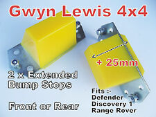 2 x Defender Discovery 1 Range Rover Extended Bump Stops Front or Rear inc BOLTS