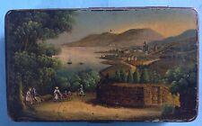 Biedermeier Blechdose Weißblech Dose Büchse Miniatur Gemälde wie Stobwasser~1820