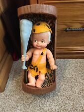 "Vintage 12""  Bamm-Bamm  Flintstones Guy Doll Ideal -with Cradle"