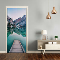 Self adhesive Door Wall wrap removable Peel & Stick Landscape Mountains lake