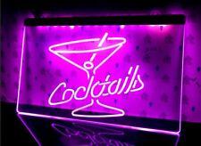Cocktails LED Neon Bar Sign Home Light Up Drink Pub Cocktail gin wine bar open