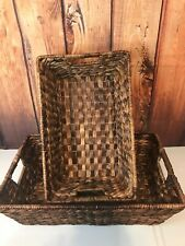 New Listing2 Pottery Barn Seagrass Underbed Baskets - Havana Set