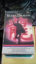 Year of the Dragon rare BIG BOX 1986 VHS Mickey Rourke Ariane New York Chinatown