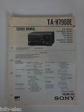 Schema SONY - Service Manual Preamplifier TA-H7900E TAH7900E