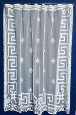 """New Fleu-d-Lis Cotton Blend 72"""" x 72"""" White Lace Shower Curtain"""