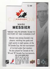 MARK MESSIER 2010-11 UD BLACK DIAMOND TEAM CANADA DIE CUTS # TC-MM OILERS MINT