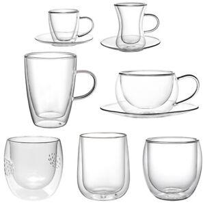 Doppelwandige Kaffeegläser Thermoglas Doppelwandige Gläser Sets Latte Macchiato
