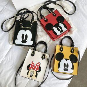 Disney pu mickey mouse messenger bag pu Minnie shoulder bag cartoon fashion hand