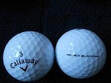 """40 CALLAWAY """"HEX BLACK"""" - BLACK TICK -  Golf Balls - """"PEARL/A"""" Grades."""