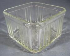 Vintage deco depression ribbed glass bread box-fridge storage -base only