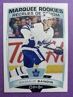 2019-20 O-Pee-Chee Marquee Rookies #643 Rasmus Sandin Toronto Maple Leafs RC