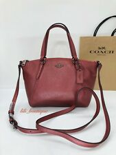 NWT Coach F29639 Mini Kelsey Crossbody Purse Bag Leather Metallic Hot Pink $250