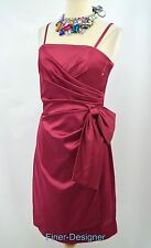 WHBM White house Black Market knee gown pleated mock wrap Dress sexy port 6 NEW