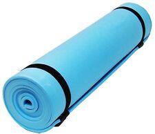 NEW Blue Yoga Camping Beach Sleeping Ground Mat 180 x 50cm Roll Up Mats Foam! PP